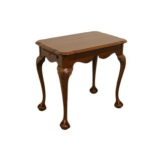 20th Century Traditional Ethan Allen Ball and Claw Chairside Table For Sale