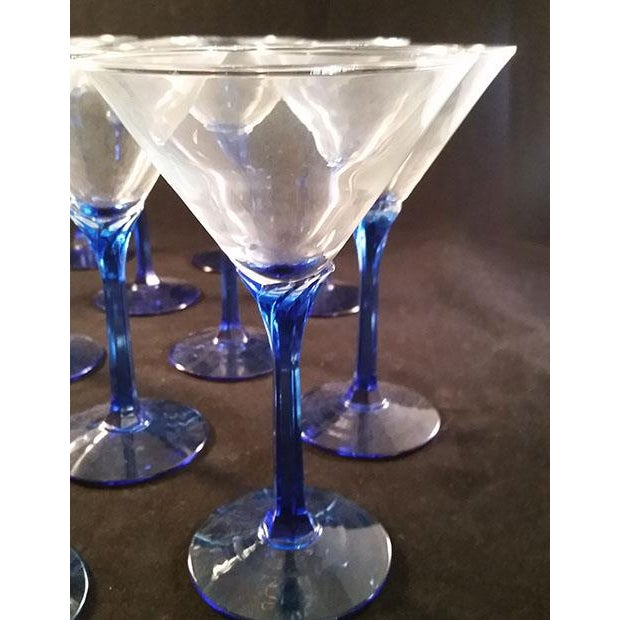 Blue Stem Martini Glasses - Set of 12 - Image 3 of 5