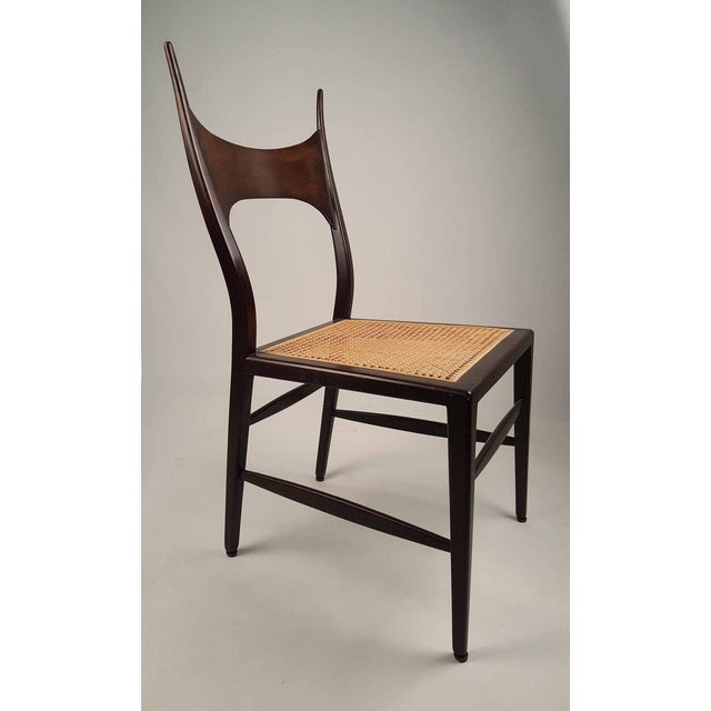 Brown Set of Eight Edward Wormley 5580 Dining Chairs for Dunbar, 1950s For Sale - Image 8 of 13