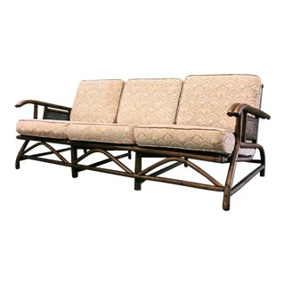 Vintage Mid Century Bamboo Sofa For Sale
