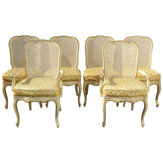 Thomasville French Cane Dining Chairs - Set of 6 For Sale