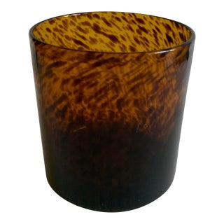Bloomingville Tortoise Shell Glass Vase/Ice Bucket For Sale