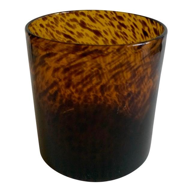 Bloomingville Tortoise Shell Glass Vase/Ice Bucket For Sale