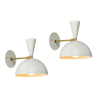 Large 'Lola II' Sconces in White - a Pair For Sale