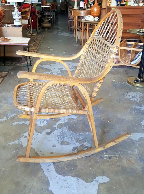 Adirondack Vermont Tubbs Snow Shoe Style Rocking Chair   Image 5 Of 6