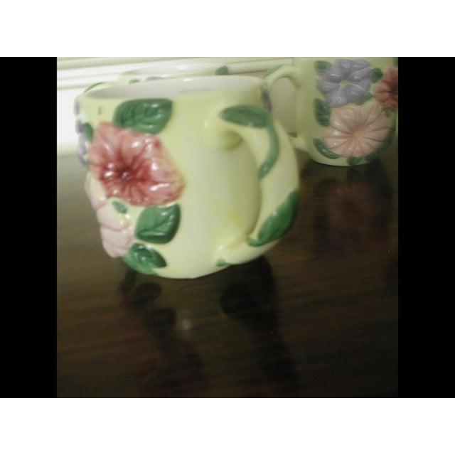 Ceramic Vintage Colorful Glazed Earthenware Mugs - Set of 8 For Sale - Image 7 of 7
