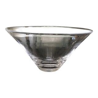 Large Simon Pearce Hand Blown Glass Bowl For Sale