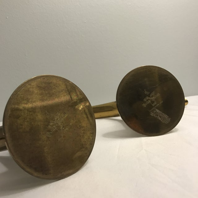 Ystad Metal Swedish Lily Candleholders - A Pair For Sale - Image 6 of 11