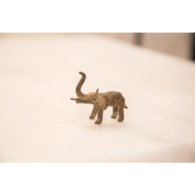 Vintage Oxidized Elephant Bronze Gold Weight For Sale - Image 5 of 6