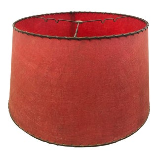 Vintage Mid Century Modern Red Fiberglass Lamp Shade For Sale