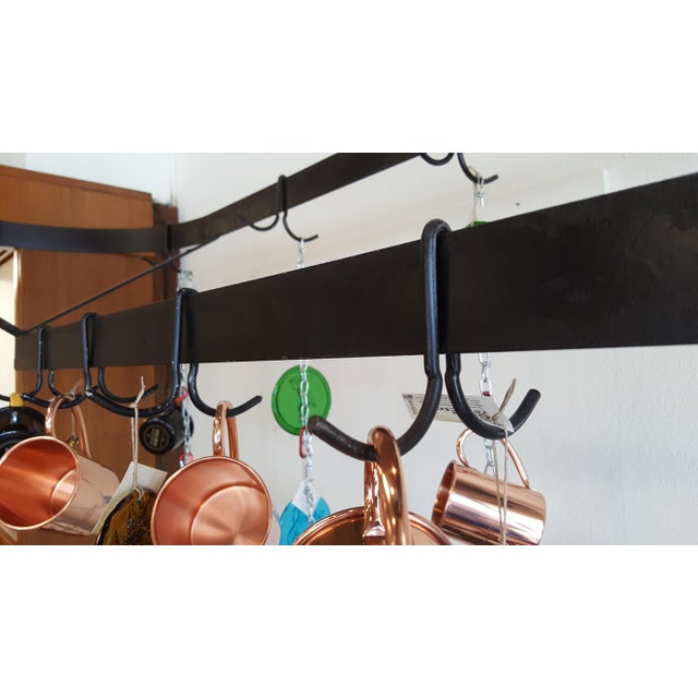 Industrial Industrial Kitchen Island With Pot Rack For Sale - Image 3 of 8