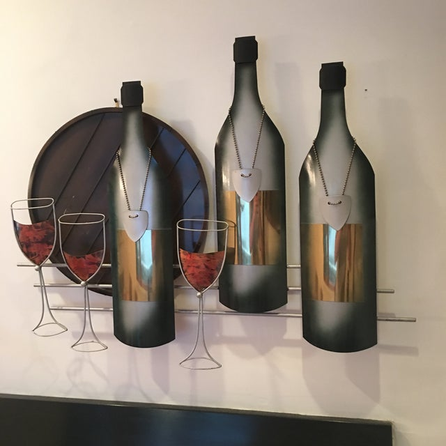 Signed C. Curtis Jere Artisan House Wine Tasting Sculptural Wall Art For Sale - Image 10 of 10