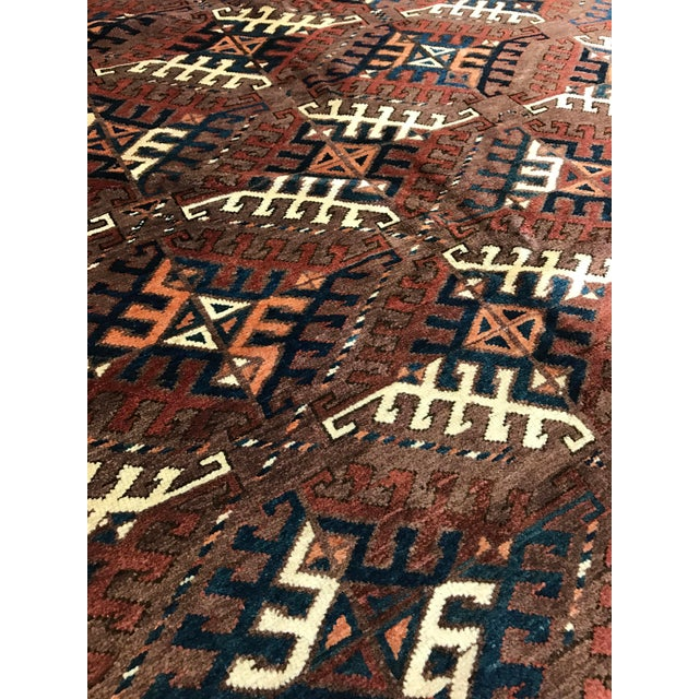Antique Yomud Carpet - Image 2 of 4