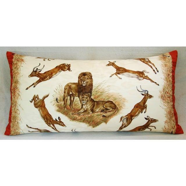 Custom Hermes Robert Dallet Safari Kenya Pillow - Image 3 of 11