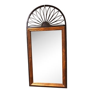 Chapman Spanish Iron & Wood Frame Wall Mirror For Sale