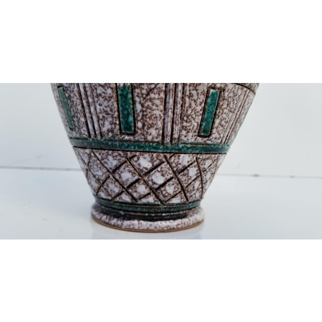 Italian Hand Painting Studio Pottery Vase For Sale - Image 11 of 12