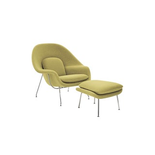 Mid-Century Modern Knoll Saarinen Womb Chair and Ottoman - 2 Pieces For Sale