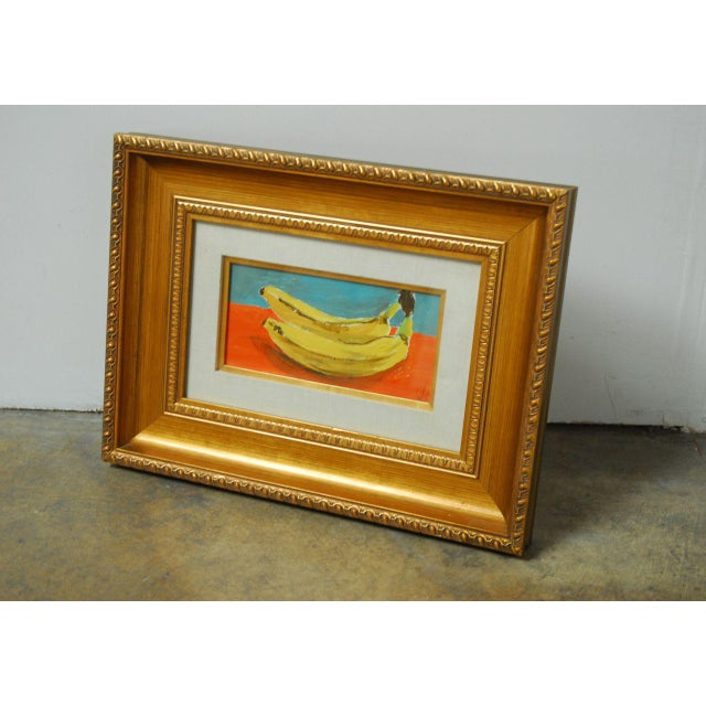 Andy Warhol Style Banana Oil Painting - Image 5 of 9