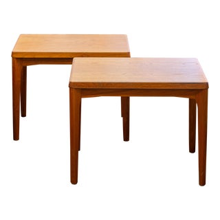 1960's Danish Modern Teak Side Tables by Henning Kjaernulf for Vejle Stolefabrik - a Pair For Sale