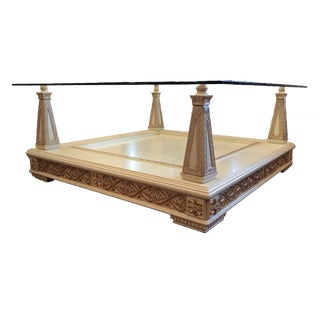 Custom Hand Carved and Painted in Italy Coffee Table