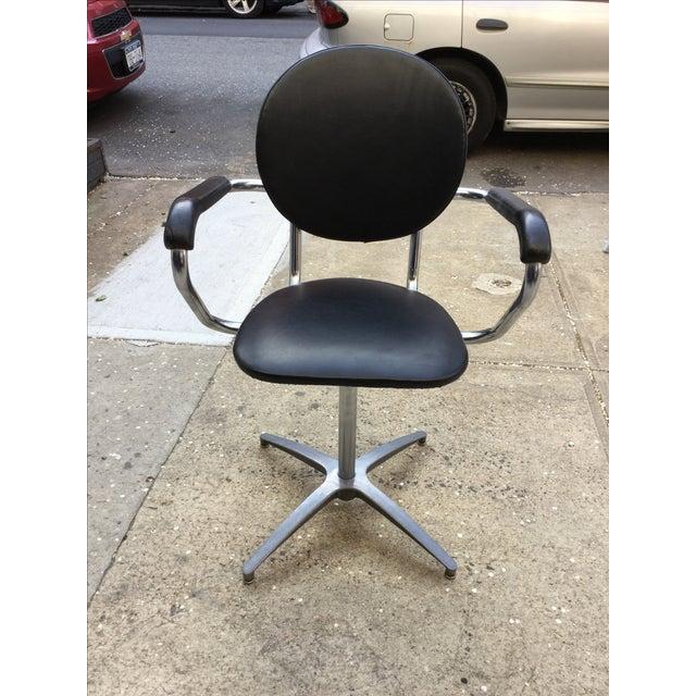 1960's Modern Chrome Desk Chair - Image 3 of 8