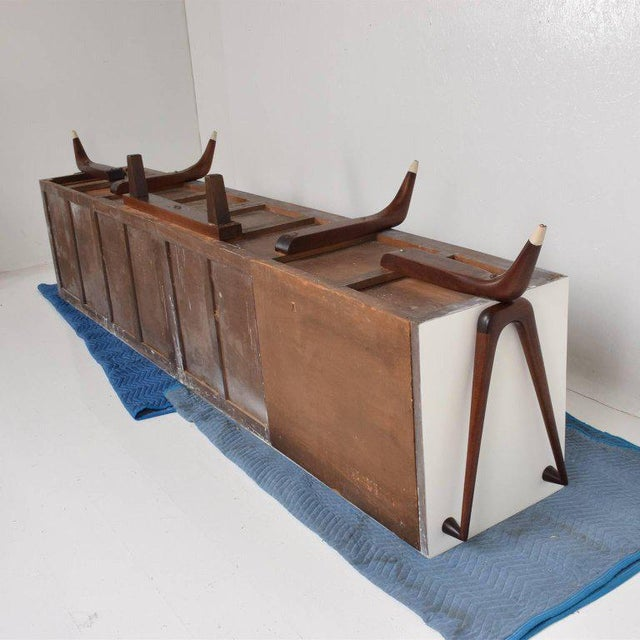 Stunning and Rare Mid-Century Modernist Custom Credenza, Mexico, 1950s For Sale - Image 11 of 12