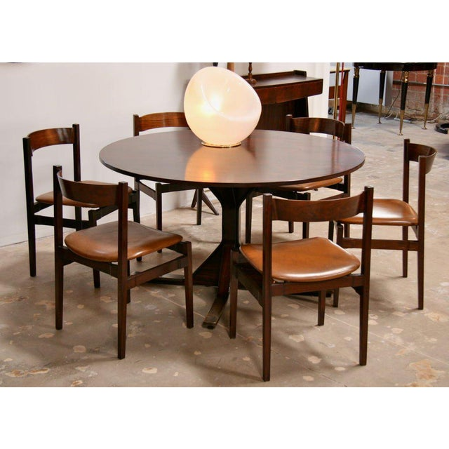 From Frattini...set of six stylish roseweood dining chairs. Psssst! We also have the dining table; two side open buffet...
