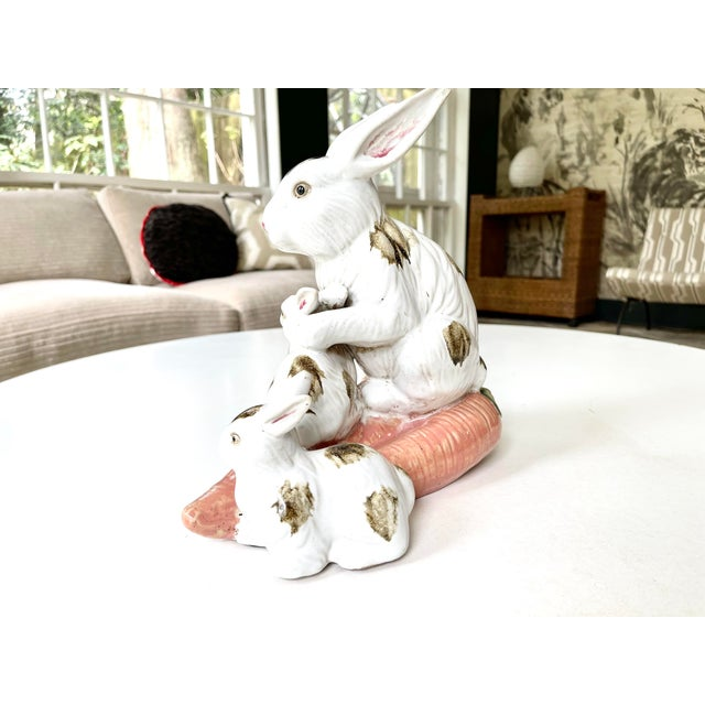 Late 20th Century Vintage Provencal Ceramic Bunny Statue For Sale - Image 5 of 13