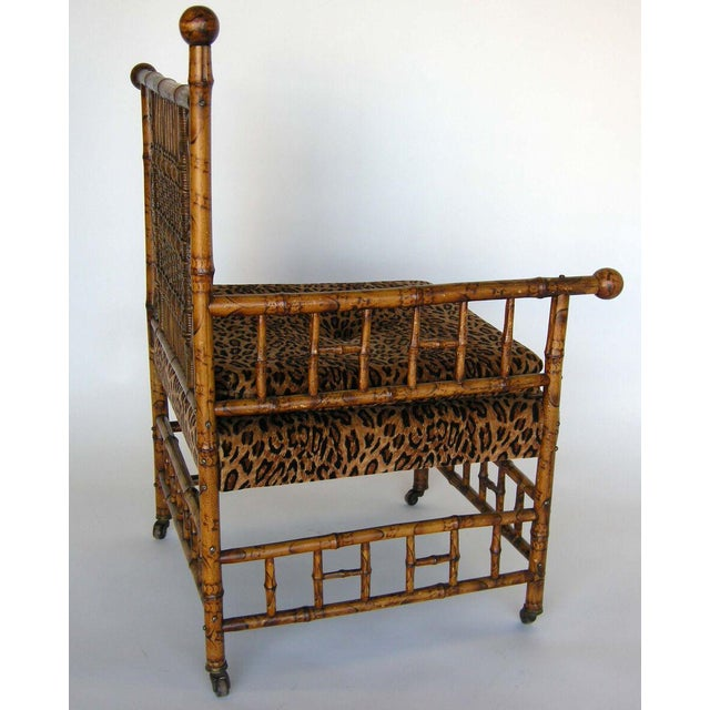 Antique 19th Century Victorian Bamboo Photographer's Chair For Sale In Los Angeles - Image 6 of 11