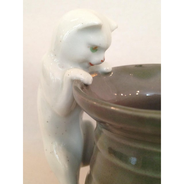 Cream Pitcher with Cat Handle - Image 3 of 6
