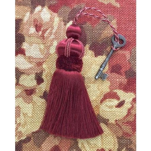 Red Velvet Ruche Rouge Key Tassel For Sale - Image 8 of 10