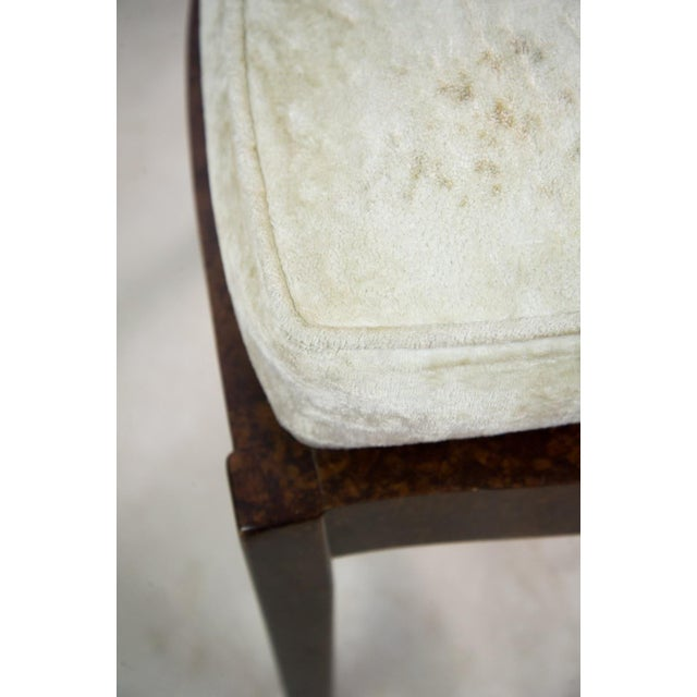 Lucite and Birdseye Maple Veneer Mid-Century Modern Dining Chairs - Set of 8 - Image 6 of 11