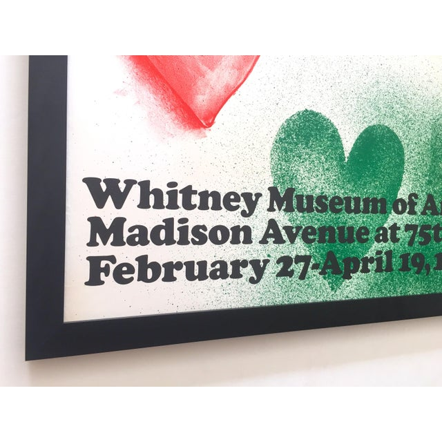 Metal Jim Dine Rare Vintage 1970 Framed Silkscreen Print Whitney Museum Collector's Pop Art Exhibition Poster For Sale - Image 7 of 13