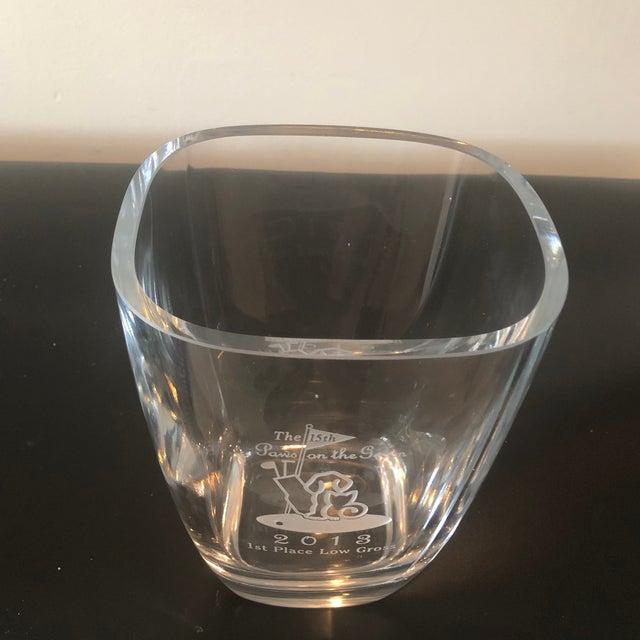 Sterling Crystal Golf Trophy For Sale - Image 4 of 5