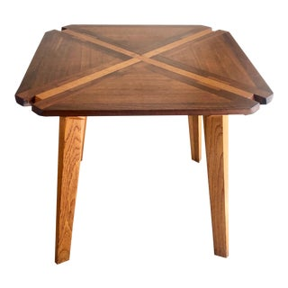 Studio Crafted Mixed Woods Dining Table/Game Table For Sale