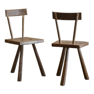Pair of French Reconstructionist Chairs After Jean Touret, France, 1950s For Sale