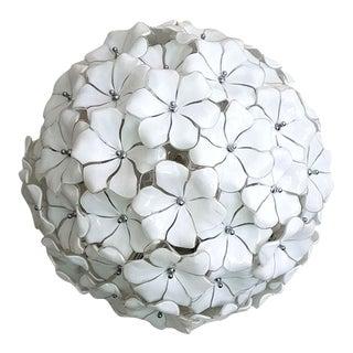 Mazzega Murano Flower Ball Chandelier Mid-Century Modern For Sale