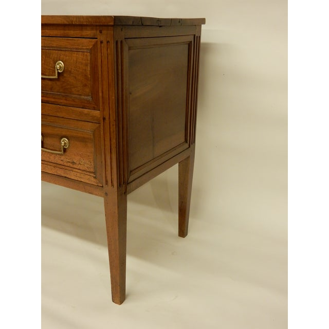 Louis XVI Walnut 19th Century Commode For Sale - Image 4 of 8