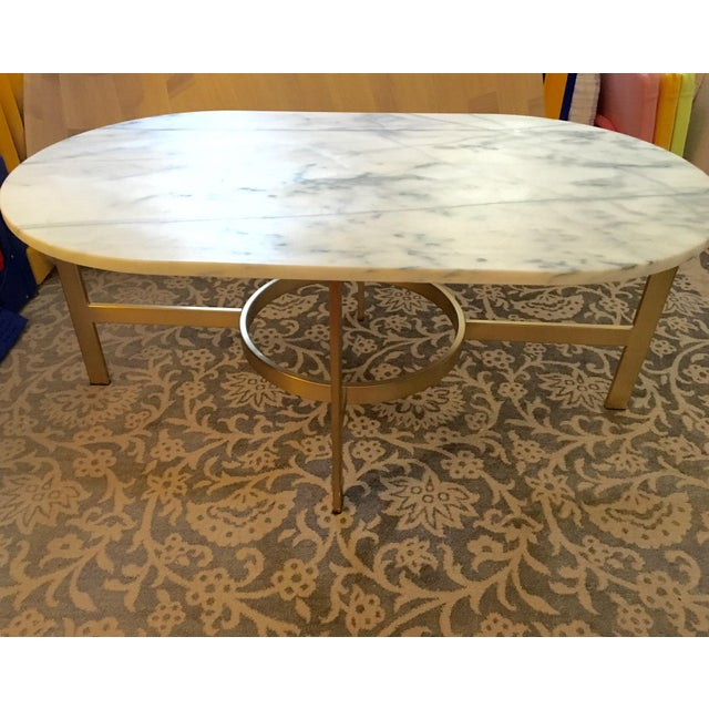West Elm Marble Coffee Table - Image 6 of 6