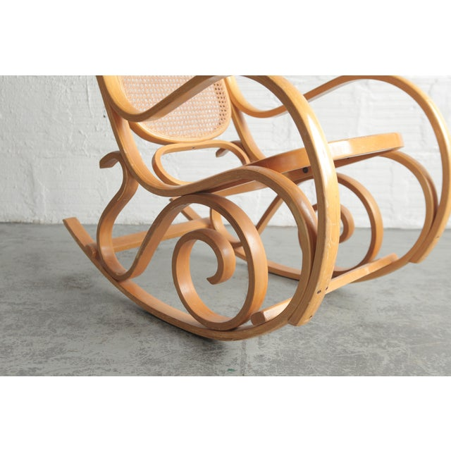 Late 20th Century Vintage Rattan Rocking Chair For Sale - Image 4 of 6