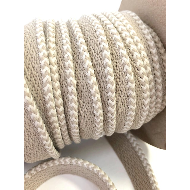 """Modern Braided 1/8"""" Indoor-Outdoor Cord in White & Cream For Sale - Image 3 of 7"""