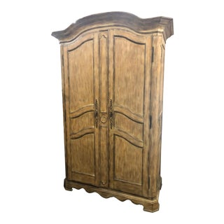 Rustic Century Furniture Wardrobe Entertainment Center For Sale