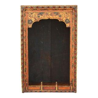 Antique Painted Tibetan Altar Shrine For Sale