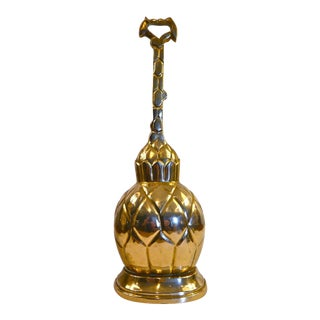 Mid-Century Brass Pineapple Door Stop For Sale