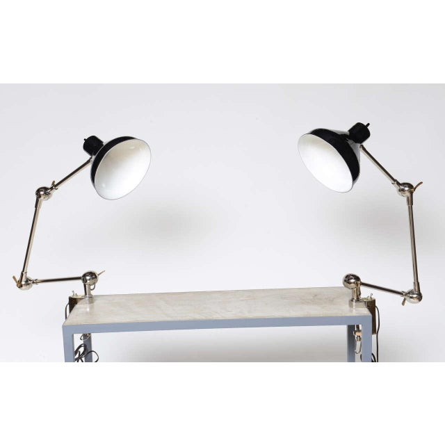 1940s Architectural Clamp Lamp For Sale - Image 4 of 10