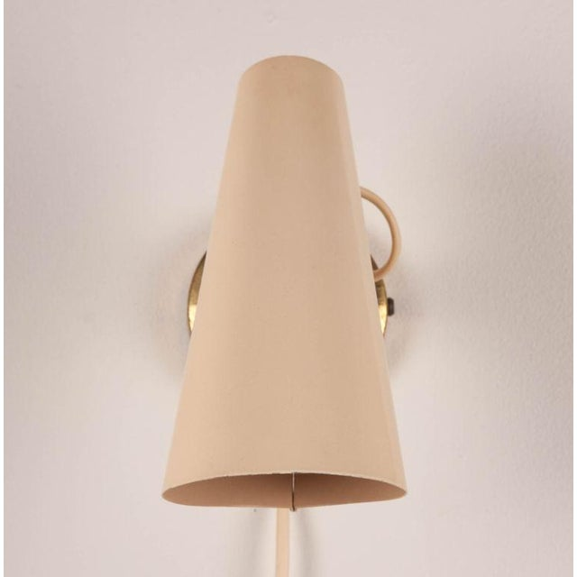 Mid-Century Modern Birger Dahl Adjustable Metal Cone Wall Sconces - a Pair For Sale - Image 3 of 5