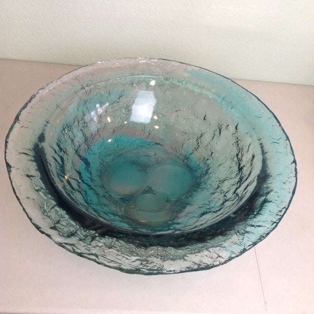 D. Young Large Lucite Blue Bowl For Sale - Image 11 of 11