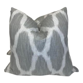 """Kravet """"Klosters Ikat"""" in Dew 22"""" Pillows - a Pair For Sale"""