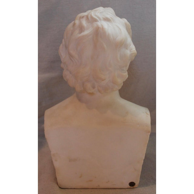 Johann Wolfgang Von Goethe Marble Bust Statue For Sale - Image 4 of 10