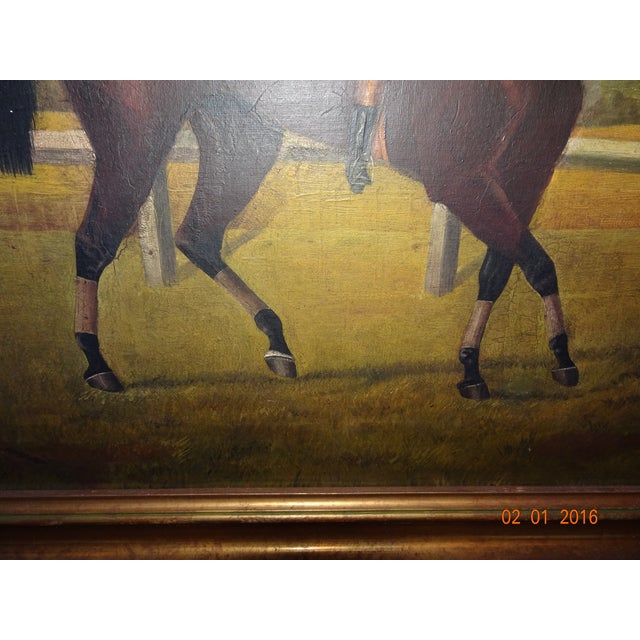 Jockey on Race Horse Painting For Sale - Image 9 of 11